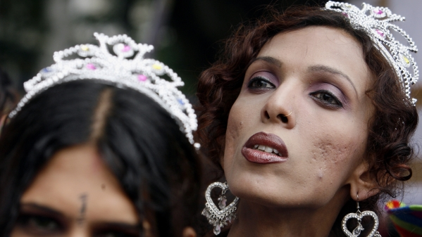 Archived picture of transgenders participate in a parade for LGBTQ+ rights in Mumbai. Picture used for representational purposes.