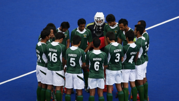 File picture of the Pakistan hockey team.