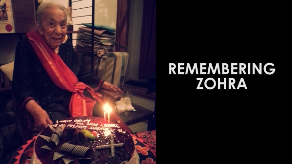 Zohra Sehgal on her 102nd birthday. (Photo: Sujata Sehgal)