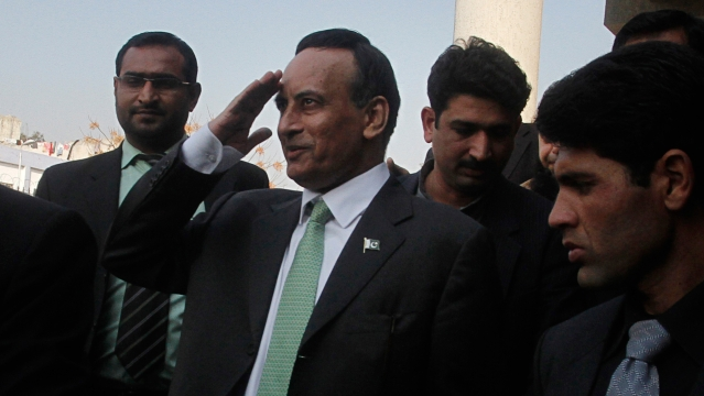 Former Pakistani ambassador to the US, Husain Haqqani.