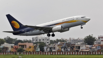 <!--StartFragment-->A Jet Airways passenger aircraft takes off from the airport. (Photo: Reuters) <!--EndFragment-->