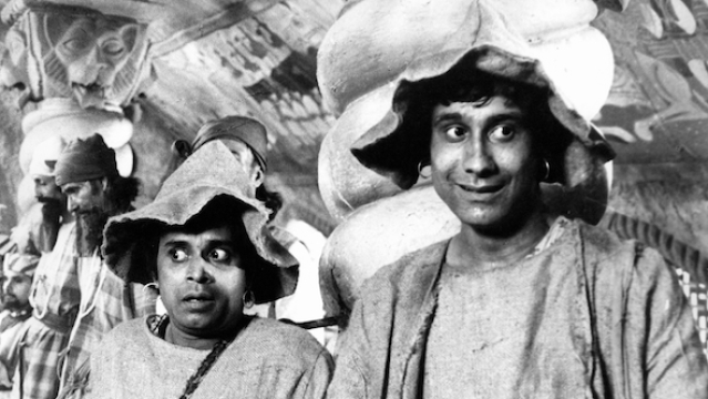 A still from Ray's <i>Goopy Gyne Bagha Byne</i> (1968)