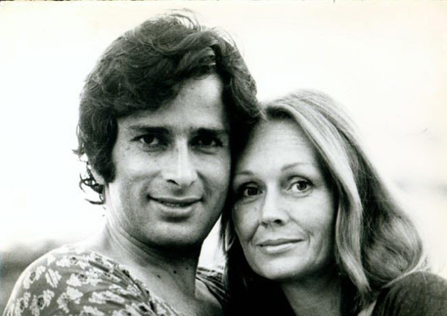 Shashi Kapoor with wife Jennifer Kendal.