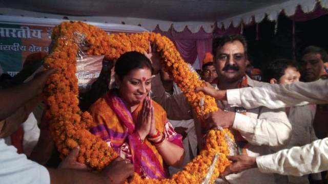 "Former HRD Minister Smriti Irani. (Photo Courtesy: Facebook/<a href=""https://www.facebook.com/Smriti.Irani.Official?_rdr"">Smriti Irani</a>)"