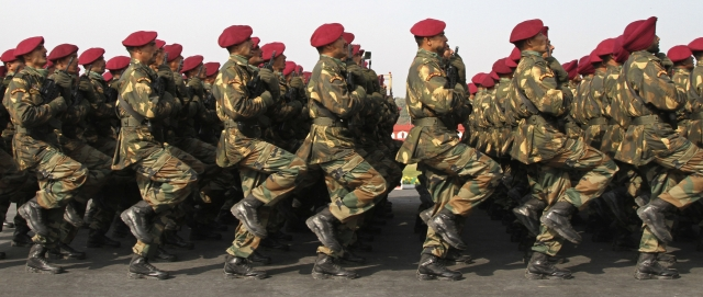 File image of Special Forces commandos marching during the Army Day parade. (Photo: Reuters)