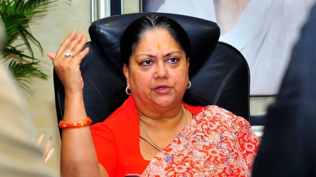 Rajasthan Chief Minister Vasundhara Raje. (Photo: Reuters)