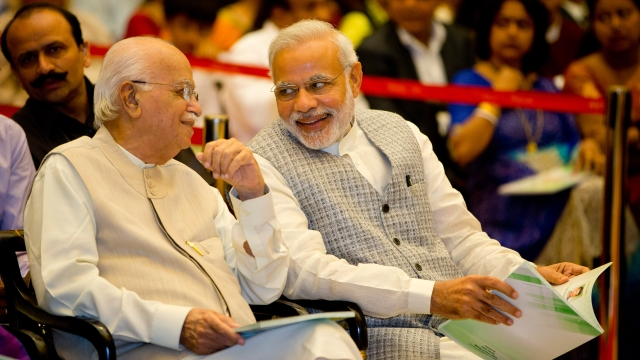 Prime Minister Narendra Modi with LK Advani. (Photo: AP)