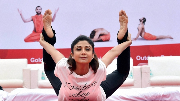 Shilpa Shetty Yoga: File photo of Shilpa Shetty Kundra at a Yoga event.