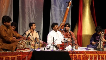 """Ustaad Rashid Khan at a concert. (Courtesy: <a href=""""https://www.facebook.com/pages/Ustaad-Rashid-Khan/92568358276"""">Ustaad Rashid Khan's Facebook page</a>)"""