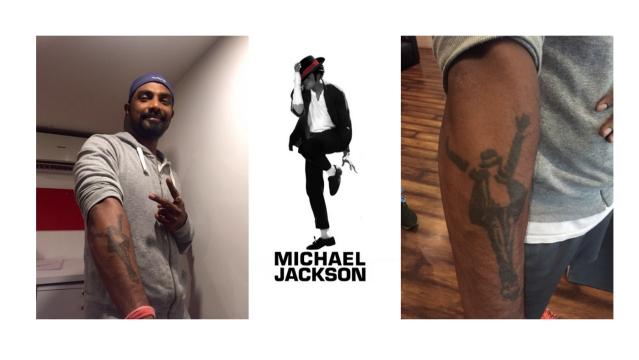 Remo D'souza shows off his MJ tattoo (Photo: Remo D'souza)