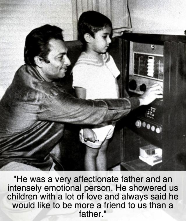 Madan Mohan with son eldest sonSanjeev Kohli (Photo courtesy: Sanjeev Kohli)