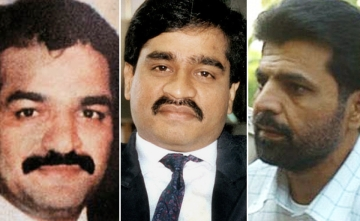 Yakub Memon (R) has been sentenced to death. He has been convicted for his involvement in the 1993 Mumbai blasts. His brother Tiger (L) and Dawwod Ibrahim (centre) were also masterminds of the terror attack,