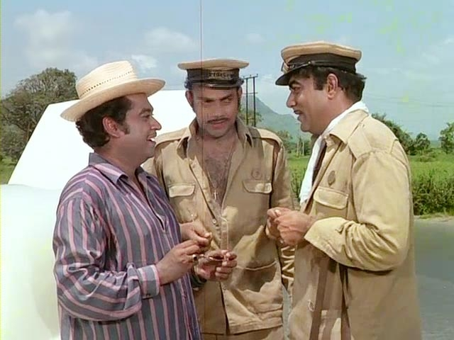 Kishore Kumar makes a guest appearance in <i>Bombay To Goa, </i>in a scene with Mehmood and Anwar Ali.