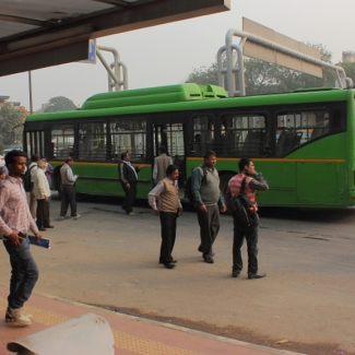 Low floor CNG buses have been running in Delhi since 2001.