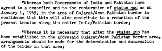 India-Pakistan agreement on ceasefire in Rann of Kutch (Photo: American Society of International Law)