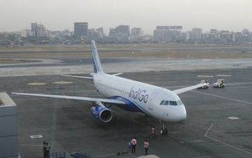 An IndiGo Airlines aircraft arrives at a gate of the domestic airport in Mumbai on 22 February 2012.  Image used for representational purposes only.