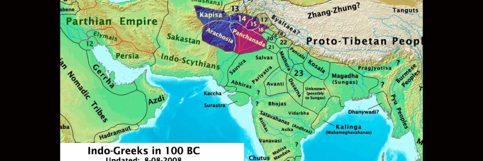 Youll be amazed to see indias borders change in these 9 maps the this map of india depicts the countrys territory 100 years before jesus christ was born gumiabroncs Image collections