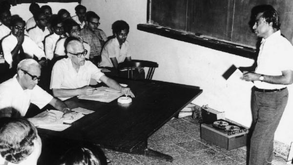 Dr APJ Abdul Kalam teaching at ISRO.