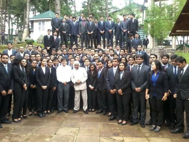IIM Shillong put this pic on their FB page on 11th July. He was their guest faculty speaker for the third consecutive year.