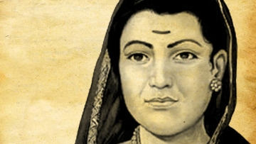 "Savitrabai Phule, wife of Mahatma Jyotirao Phule. Savitribai was the first woman educator of the country, and ran several schools for girls belonging to the lower-castes. (Courtesy: <a href=""http://www.nrmi.in/"">NRMI website</a>)"