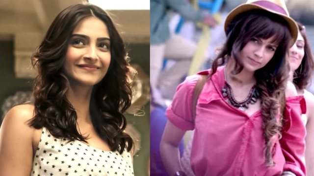 Sonam Kapoor and Kangana Ranaut (Photo: Movie stills of <i>Khoobsurat, Katti Batti</i>)