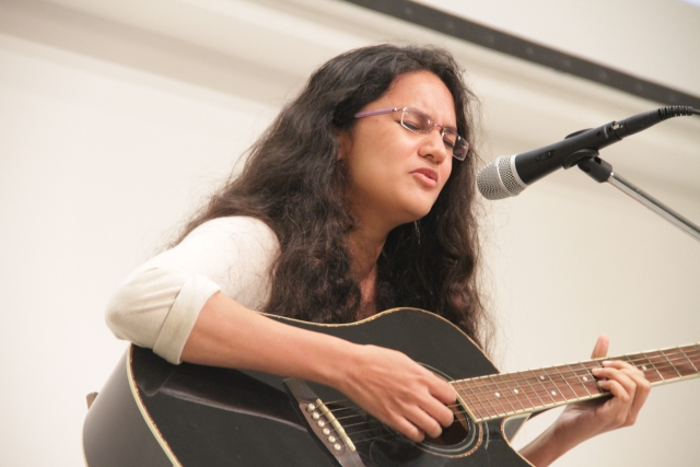 Shubhangi Joshi performs on the second day. (Photo: Godrej Culture Labs)