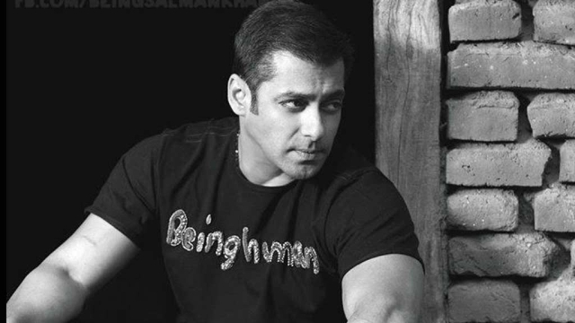 Salman Khan sporting a <i>Being Human</i> tee.