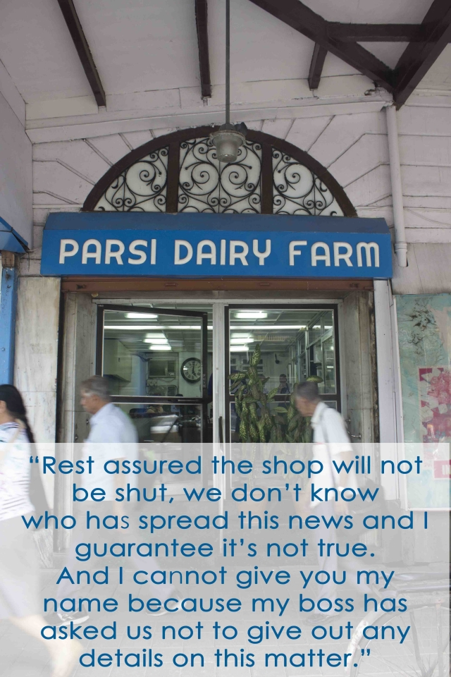 The main door of the Parsi Dairy Farm, Princess Street, Mumbai
