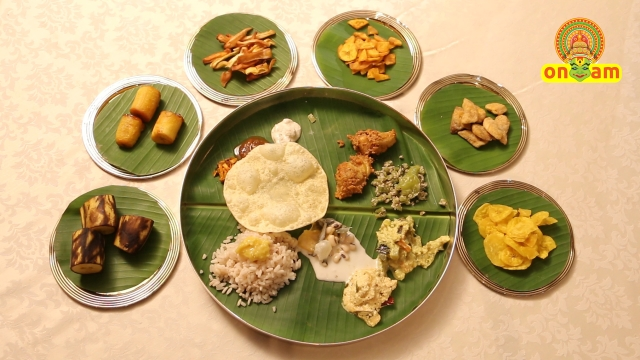 The grand, vegetarian Onam Sadhya feast. (Photo: <b>The Quint</b>)