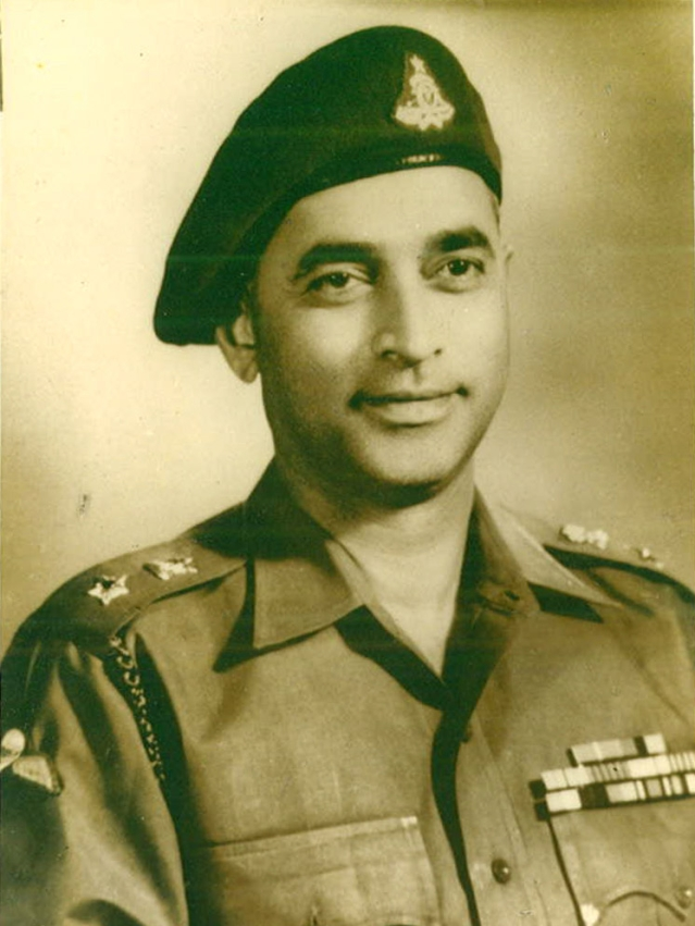 Portrait of Lt Col PR Jesus. Ambala, 1963. (Photo: Rohit Khanna)