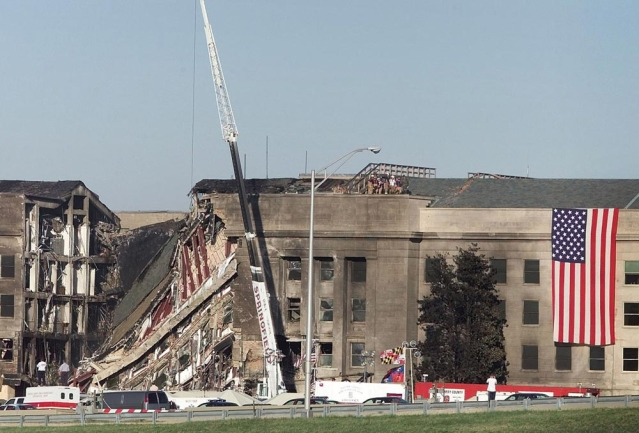 A picture of rescue work at the Pentagon a day after the 9/11 attacks. (Photo: Reuters)