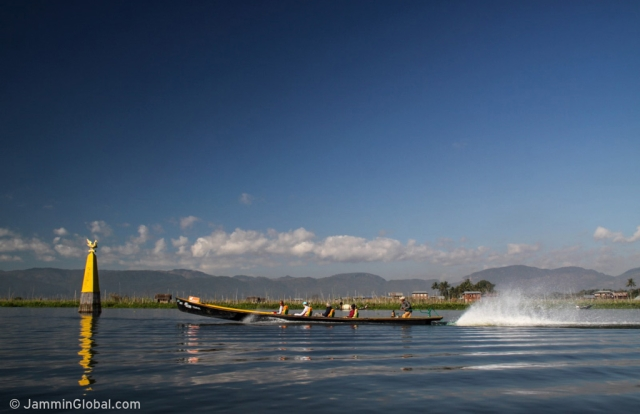 Long boats on Inle lake where the locals have created a thriving economy whilst living on the lake. (Photo: Jay Kannaiyan)