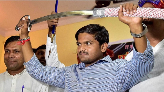 File photo of Patel quota agitation leader, Hardik Patel. (Photo: PTI)