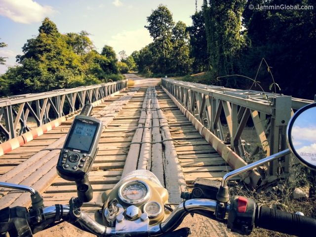 Crossing over a hundred wooden bridges in remote western Myanmar. How good is your balance? (Photo: Jay Kannaiyan)