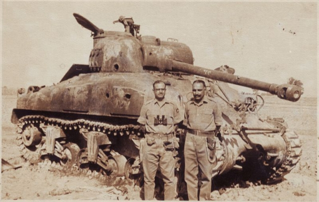 Indian army officers with a destroyed Pakistani tank in Sept '65 (Photo: Wickimedia Commons)