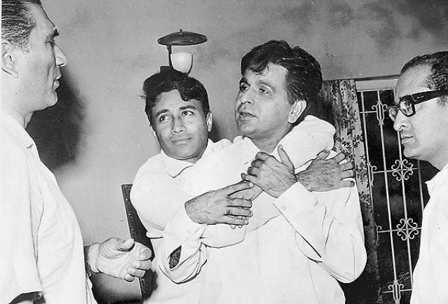 Dev Anand with Dilip Kumar.