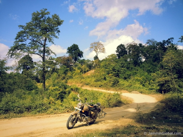 Riding through the jungles of western Myanmar where the tar road hasn't reached yet. (Photo: Jay Kannaiyan)