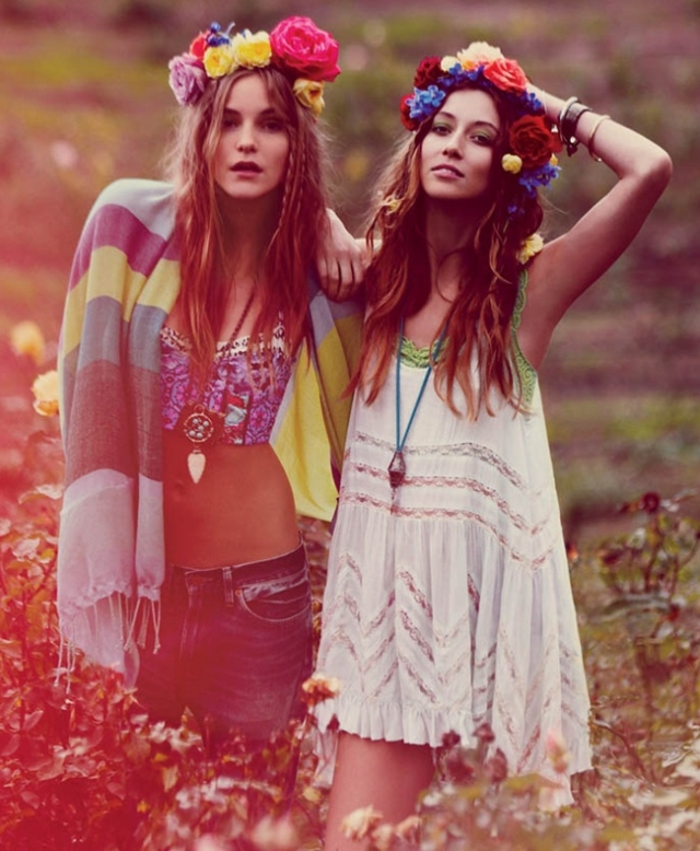 1970s Boho chic fashion. (Photo: Tumblr)