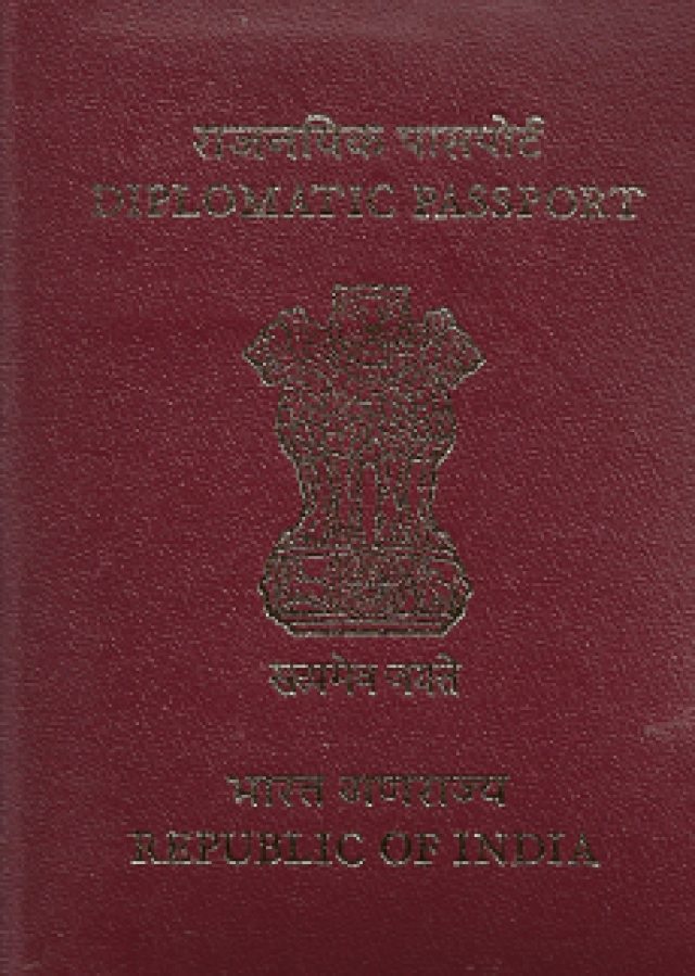 The Indian diplomatic passport (Photo: Factly)