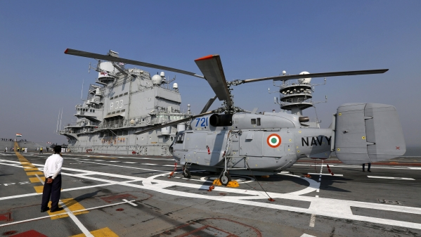 Indian Navy's aircraft carrier.