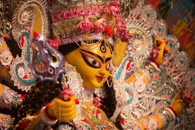 The near-week long celebration of the Durga Pujo rules the city. (Photo: iStock)