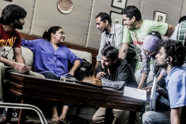 Meghna Gulzar with her team (Photo: Shaheen Muhammed)