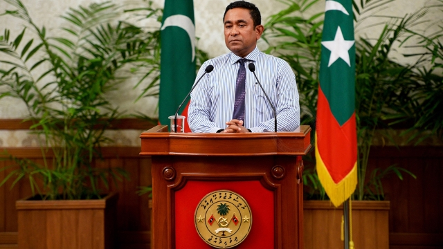 File photo of Maldives President Abdulla Yameen.