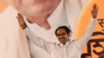 Shiv Sena president Uddhav Thackeray is keen to win the support of the Gujarati community.