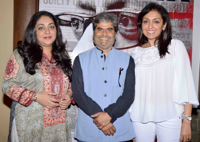 Director Meghna Gulzar, co-producer Vishal Bhardwaj and producer Priti Shahani at the <i>Talvar </i>screening (Photo: Yogen Shah)