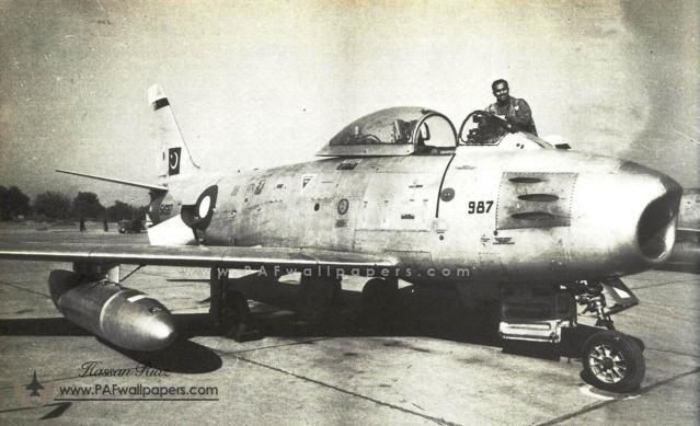 Pakistani Sabre F-86 during the 1965 war. (Photo: Pakistan Air Force)