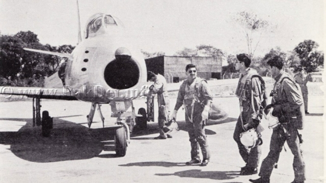 Vintage Sabre F-86 in 1965, Pakistan. (Photo: Defence.pk)