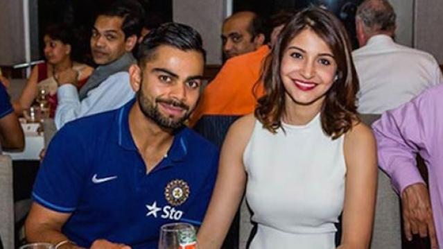 Anushka Sharma and Virat Kohli ahead of the 2015 World Cup Semi Final in Australia. (Photo: Facebook/ IndianLinkAustralia)