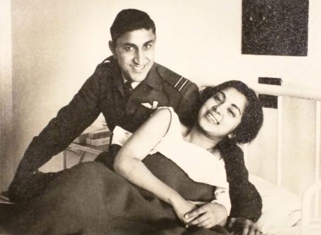 Young Flt. Lt. Kamal Khanna with his wife Kamini. (Photo: Rohit Khanna/The Quint)