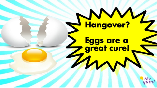 Given their large amount of cysteine, eggs help mop up alcohol's leftover toxins (Photo: The Quint)